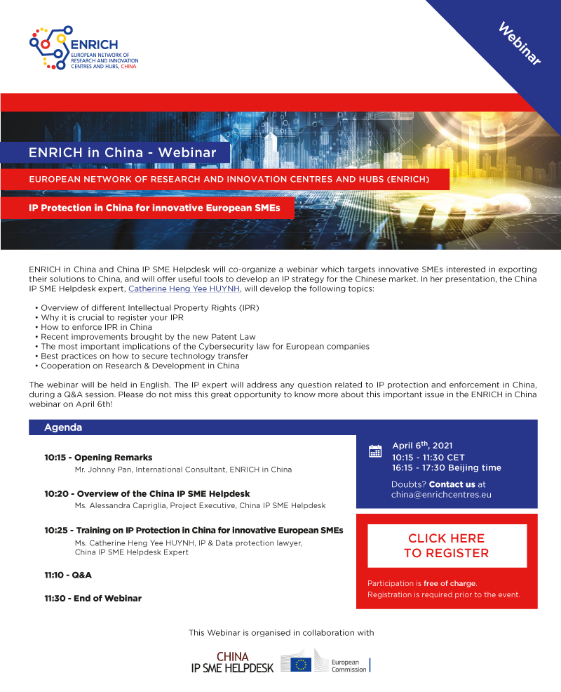 IP Protection in China for innovative European SMEs