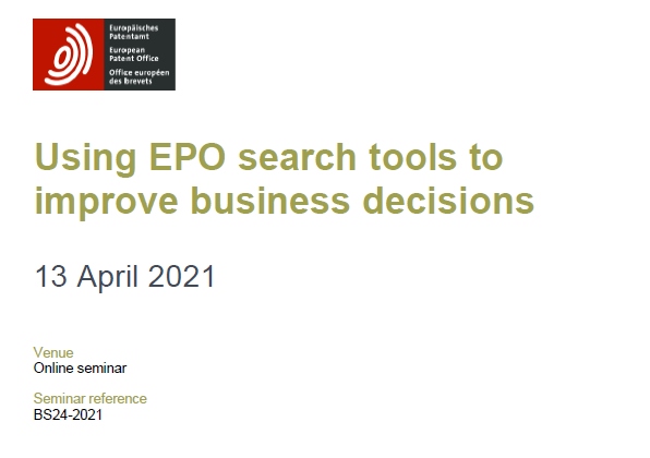 EPO search tools