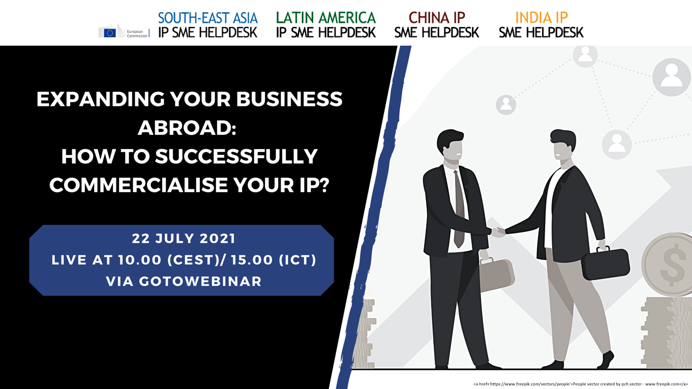 Webinar: Expanding your business abroad - How to successfully commercialise your IP?