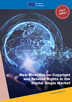New Directive on Copyright and Related Rights in the Digital Single Market