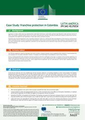 Franchise protection in Colombia