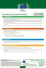Lack of patent protection