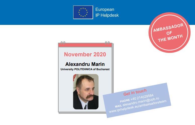Alexandru Marin, Ambassador of the Month