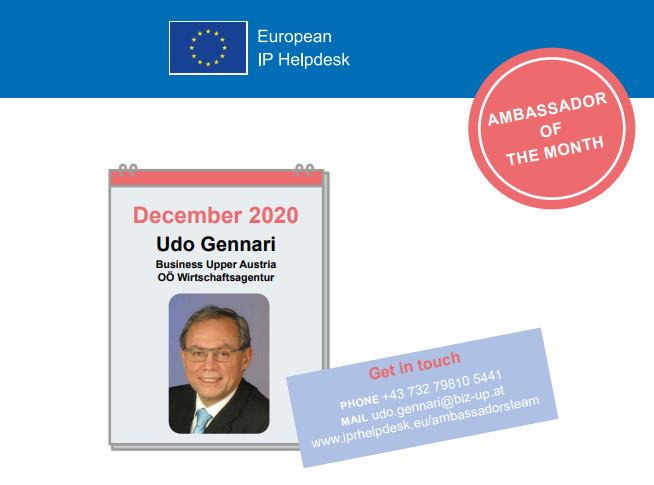 Udo Gennari, Ambassador of the Month
