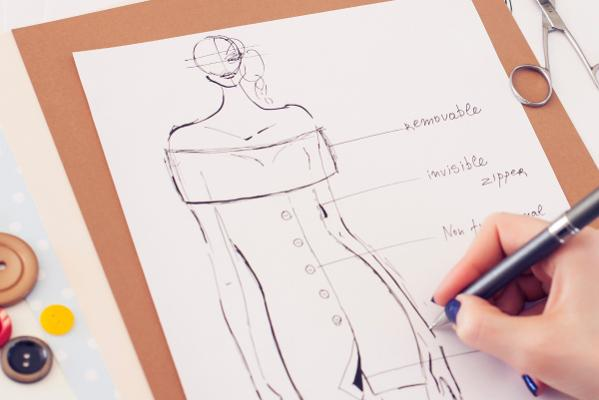 IP in Fashion - Hand drafting design