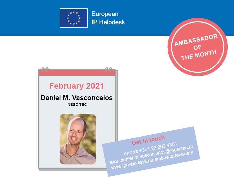 Daniel M. Vasconcelos, European IP Helpdesk Ambassador of the Month