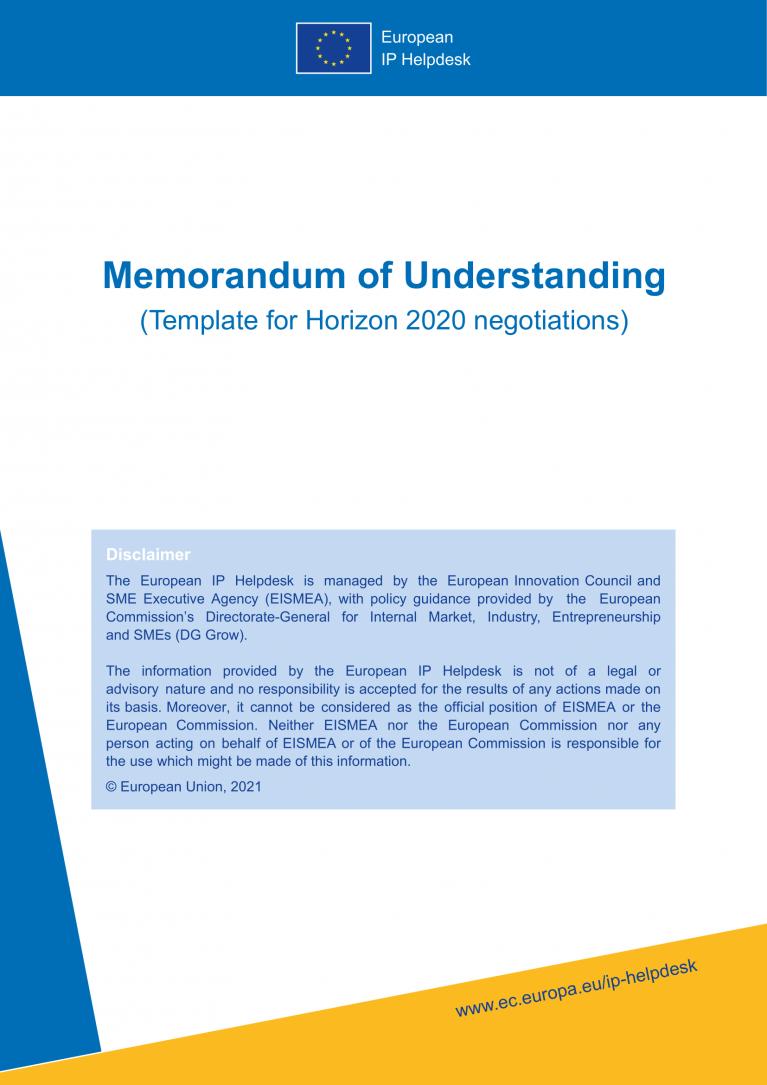 H2020 MoU Memorandum of Understanding